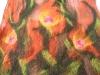sjaal bruin met bloem